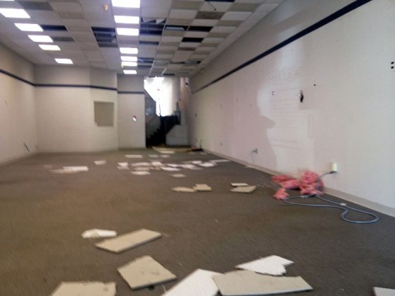 Ceiling Tiles on Floor