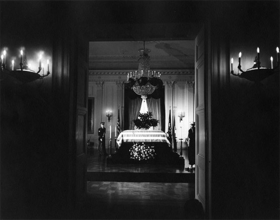 President Kennedy's casket