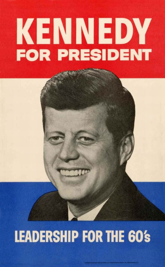 Kennedy for President, Leadership for the 60's Campaign poster